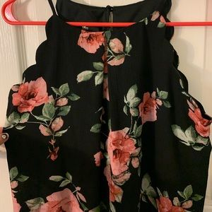 NWT black and pink floral sleeveless dress
